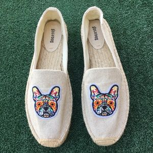 NWT Soludos Frenchie Embroidered Espadrille 11